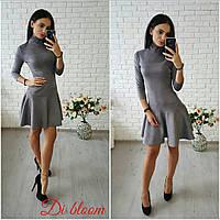 Женское модное замшевое платье с юбкой-солнце