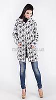 Модный вязаный с капюшоном нитка-травка размер 46 it01