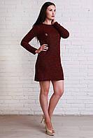 Повседневное платье с длинным рукавом