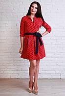 Комфортное платье с контрасным поясом