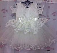 Детское нарядное  платье белое 1-3 года