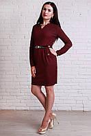 Стильное платье из креп дайвинга модной расцветки