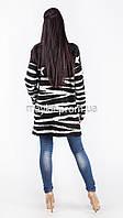 Модный вязаный кардиган Звезды нитка-травка черный размер 50 it03
