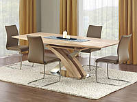 Раздвижной обеденный стол Halmar Sandor с прямоугольной столешницей