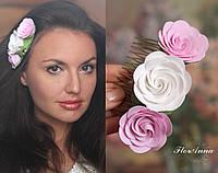 """Гребень для волос с цветами """"Викторианские розы"""""""