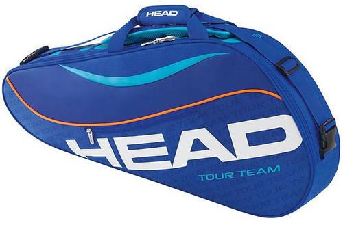Компактная синяя теннисная сумка-чехол на  3 ракетки 283225 Tour Team 3R Pro  BLBL HEAD