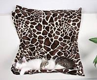 Гамак подвесной для кота (плюш) 48х26х30см жираф