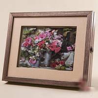 "Ключница-картина 3D ""Розовый букет"", 31x25 см."