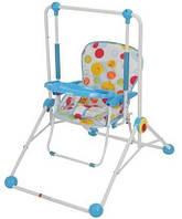 Детская качель кресло 2в1 Q01-PVC-4 Новинка