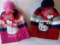 Вязаная шапочка для девочки Hello Kitty