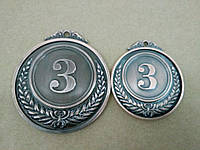 Медаль HB053 50 mm bronze с лентой