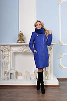 Модное женское зимнее пальто р. S-XXL арт. Милтон букле песец зима