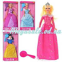 """Кукла Defa Lucy """"Принцесса Диснея"""": 4 вида, расческа в комплекте"""