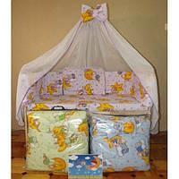 Детский постельный набор в кроватку 7 деталей