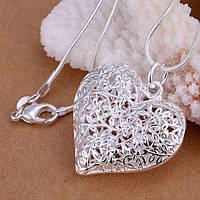 Кулон Сердце Серебро 925
