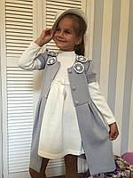 "Платье с кардиганом ""Цветок""4,размеры 104 - 128 см"