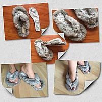 Тапочки домашние из натурального меха кролика