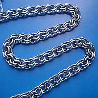 Серебряная цепочка, 600мм, плетение Бисмарк, 6мм