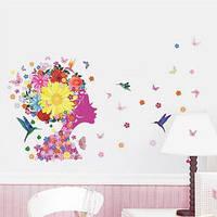 Виниловые наклейки на стены в салон красоты Девушка