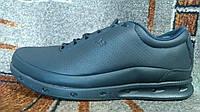 Зимние ботинки ECCO Gore Tex мех кожа синие кожа натуральная