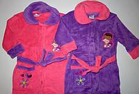 Махровые халаты для девочек Disney 3-4-5-6-8 лет