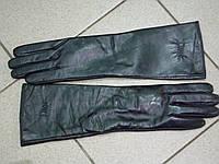 """Перчатки из натуральной кожи """"Dior""""длина 45см.на шерсти ."""