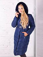 Женская модная зимняя куртка-пальто больших размеров (рр 50-58)