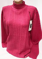 Утепленная женская кофта-туника большого размера 2510