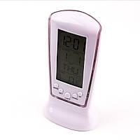 Настольные цифровые часы с термометром и подсветкой