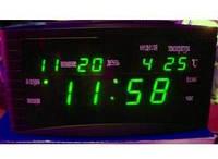 Настольные электронные LED часы, календарь, термометр, будильник Caixing CX 838