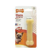 Nylabone Dura Chew Petite НИЛАБОН жевательная игрушка кость для собак до 7 кг с мощным стилем грызения, оригинальный вкус