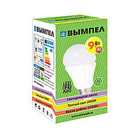 Лампа светодиодная энергосберегающая LED E27 9Вт (Теплый свет 2800К) Вымпел