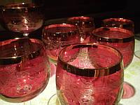 5 Бокалов и 6 рюмочек. Богемское стекло. фужеры