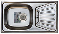 Кухонная стальная мойка Trion 43 x 78 гладкая