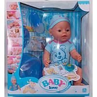Кукла-пупс Baby Born (копия), голубая футболка со щенком, полный кт. BL014B