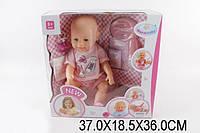 Кукла-пупс Baby Born (копия),розовая футболка и шорты, полный кт. BB 8009-434A