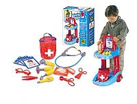 Игровой набор доктор с тележкой 63008