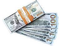Пачка денег сувенирные деньги подарок 100 $ новые
