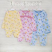 Пижама-детская 1-3-5лет, 1105KAY+GERDA трикотаж-хлопок-теплая, в наличии 92,104,116  Рост