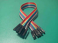 10шт. Dupont Дюпон кабель мама-мама 20см Arduino