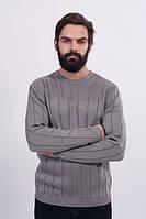 Джемпер мужской стуктурной вязки серый - 3020