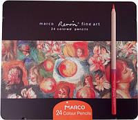 "Цветные карандаши Marco ""Renoir Fine Art""  24 цвета, ТМ Марко, FineArt-24-tn"