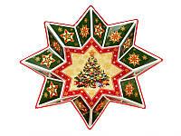 Блюдо керамическое Новогодняя коллекция 32 см 586-006