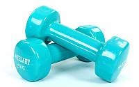 Гантели для фитнеса с виниловым покрытием (2x3кг) (цвета в ассортименте)