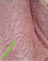 Меховое покрывало Евро размера роза 3D CLORIS