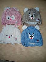 Зимние шапочки для новорожденных