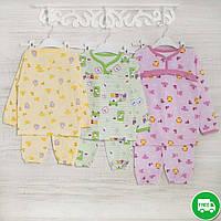 Пижама-девочкам 1-3-5лет, 1105GERDA трикотаж-хлопок-теплая, в наличии 92,104,116 Рост