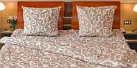 Красивое полуторное постельное белье вензеля