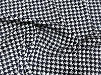 Трикотаж Модал Гусиная Лапка (т. синий на св. сером) (арт. 051233)