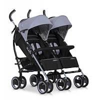 Прогулочная коляска для двойни EASY GO COMFORT DUO grey fox